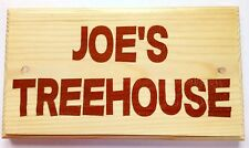 Large Personalised Treehouse Plaque / Sign - Garden Kids Boys Girls Playhouse