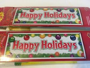 Two Happy Holidays 5FT Banners by Beistle