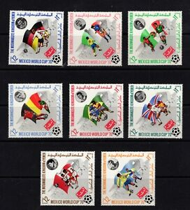 Yemen (Kingdom) Michel #979-86 (1970 Mexico World Cup set) VFMNH CV €5.00