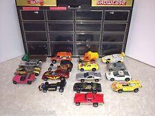 USA Vintage 1968-77 HOTWHEELS Metal Toy Car Lot of 17 Including REDLINES & Case