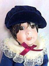 "Kingstate Dollcrafter Albert w/ Hazel Eyes 10"" Porcelain Doll Blue Outfit MIB"