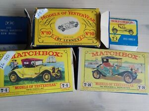 MATCHBOX MODELS of YESTERYEAR . x 3  Series 1 and 2. WITH BOXES.   #CP#