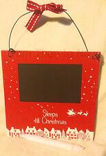 Sleeps Till Avant Noël En Bois Minuteur Calendrier Ardoise Rouge Blanc