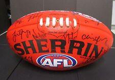 Melbourne  - 2016 team signed sherrin football - Red - AFL/Toyota sponsor
