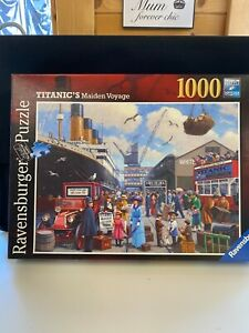 RAVENSBURGE 1000 piece jigsaw puzzle Titanics Maiden Voyage