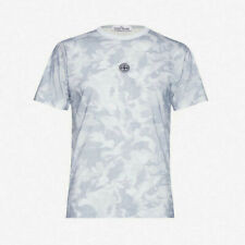Stone Island Desert Camo Print T-Shirt - Sky Blue