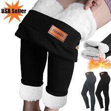 Women Winter Warm Leggings Pants Fleece Velvet Pants Lined Thermal Thick Slim US