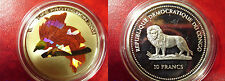 2004 Congo Large Silver Color Hologram Proof 10 fr Bird of Paradise