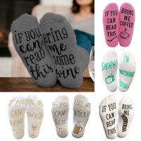 Unisex Men Women Fleece Ankle Socks Letter Printed Winter Warm Socks Hosiery