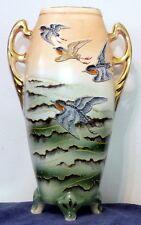 Vintage Japanese Royal Nippon Bird Vase - Beach Ocean Birds Flying Japan