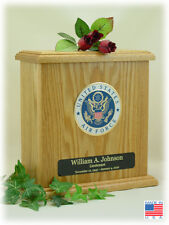 Wood Military Cremation Urn - Air Force - Made In The USA