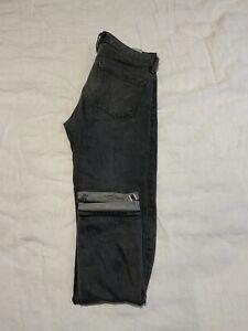 Uniqlo Selvedge Jeans Grey 33 W 34 L