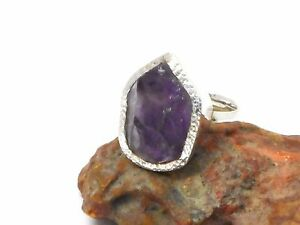 AMETHYST   Sterling  Silver   925  Gemstone  RING  -  5  /  K  -  Gift  Boxed!