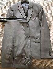 Men's Topman Grey 3 Piece Skinny Suit