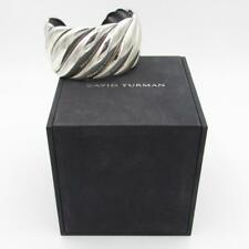 David Yurman .925 Sterling Silver WIDE Wavy Sculpted Cable Cuff Bracelet M/L