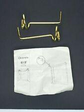 "IKEA Omkrets Gold Curtain Drapery Hooks Tie Backs 5.5"" 2 Pc Set Swirl"