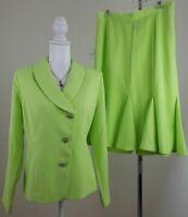Midnight Velvet ~Woman Size 12~Honeydew Dress Tulip Hem Skirt/Suit Unlined NWOT.