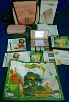 DS Lite Bundle,Pink DS Lite,2 Cases,2 Chargers,4 Games,TinkerBell,Petz,Tested,VG