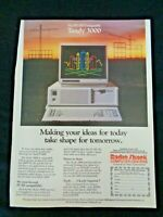 Vintage Print Ad Radio Shack Computer PC Tandy 3000 IBM Clone PC/AT PC/XT Tech