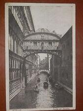Vecchia cartolina VENEZIA PONTE DEI SOSPIRI viaggiata 1928 d epoca fascista del