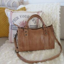 FRYE MELISSA SATCHEL LARGE BEIGE LEATHER WARM BROWNED BUTTER BRAND NEW