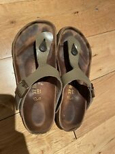 Birkenstock Gizeh Taupe Brown Toe Post Footbed Sandals UK Size 4. EU37