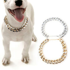 Pet Chain Collar Plastic Necklace Jewelry Accessories For Puppy Cat Gold, Silver
