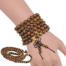 Fragrant Green Sandalwood 108*8mm Buddhist Prayer Beads Mala Necklace Bracelet