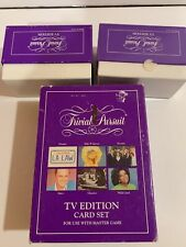 TRIVIAL PURSUIT TV EDITION, 2 BOXES OF REPLACEMENT CARDS W/Original Box