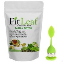 FIT LEAF TEA 14 DAY DETOX & INFUSER! SLIM DOWN - REMOVE TOXINS - INCREASE ENERGY