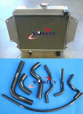 Aluminum radiator + Black hose for SUZUKI SIERRA 1.0 1.3 SJ410/413 1981-1996 MT