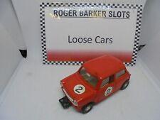 Scalextric C76 FWD Mini Cooper red 2  VG+ ( ex set car )