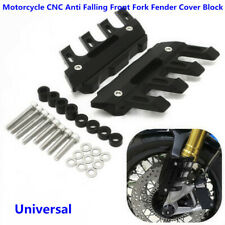 Motorcycle CNC AntiFall Front Fork Fender Cover Protection Mud Flap Splash Guard