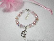 Versilberte Modeschmuck-Armbänder mit Kristall