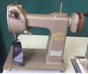 PORKERT KL-55/A Glove Sewing Machine Post Bed Chain Pique Stitching German Made