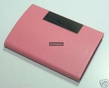PU Leather Design Magnetic Business Card, Credit Card, Name Card Holder(Pink)