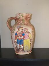 Art Pottery Pitcher Jug Water Pitcher, renaissance motif, fantasy, Griffin