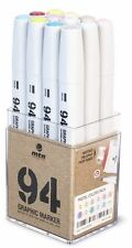 MTN 94 - GRAPHIC INK DRAWING MARKER PEN SET - 12 PASTEL COLOURS