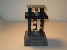 Lego Minifig Custom WW2 Army Outpost w/ 2 Minifigs