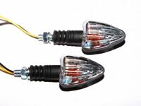 Universal Motorcycle Scooter Arrow Indicators Black E-Marked Pair