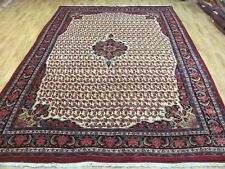 AN ATTRACTIVE OLD HANDMADE TRADITIONAL ORIENTAL CARPET (340 x 240 cm)
