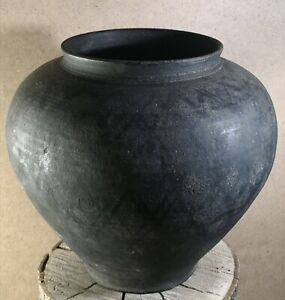 Antique big size clay pot from the USSR in an old traditional rustic style!