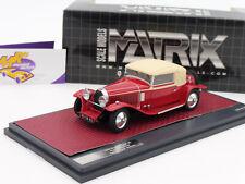 "Matrix 40205-032 # Bugatti T43 Faux Cabriolet Veth & Zoon Bj. 1930 "" rot "" 1:43"