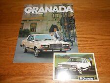 1981 FORD GRANADA SALES BROCHURE / CATALOG plus ORIGINAL 81 POSTCARD