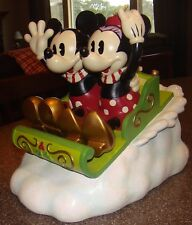 MICKEY MOUSE AND MINNIE MOUSE HOLIDAY SLED BIG FIGURE WITH ORIGINAL BOX!