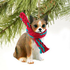 Conversation Concepts Chihuahua Miniature Dog Ornament - Brindle & White