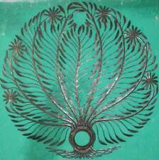 "Metal Tree of Life Haitian Recycled Oil Drum Metal Wall Art Work Decor Haiti 24"""
