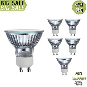 Sterl Lighting Pack of 6 MR16 Halogen Light Bulb 50W/120V GU10 Twist N Lock Base