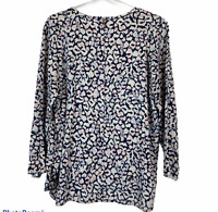 Trenery Womens Blue/White Long Sleeve Blouse Size XL