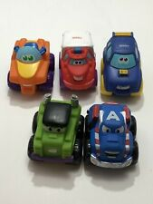 3 Tonka Chuck & Friends And 2 Marvel Chuck & Friend Soft Truck Toys